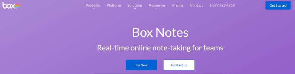 Box notes: Note taking app
