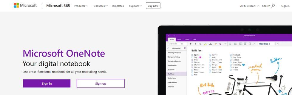 Microsoft onenote: Note taking app