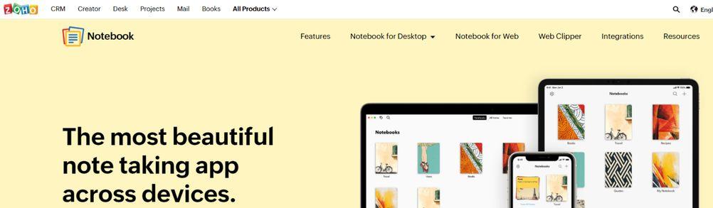 Zoho notebook: Note taking app