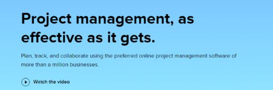 Zoho projects: Project management software