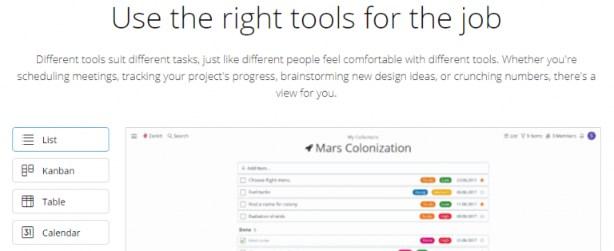 Zenkit: Online collaboration tool