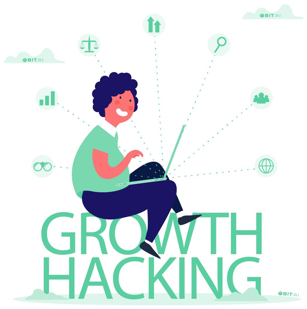 Animated illustration of growth hacking