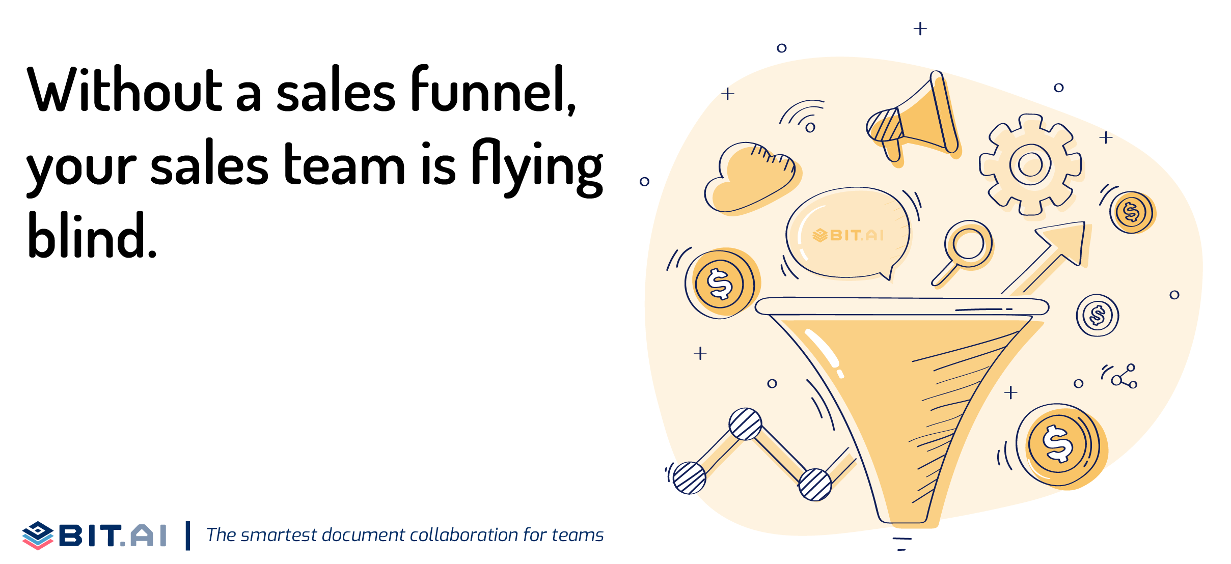 Illustration of a quote related to sales funnel and sales team