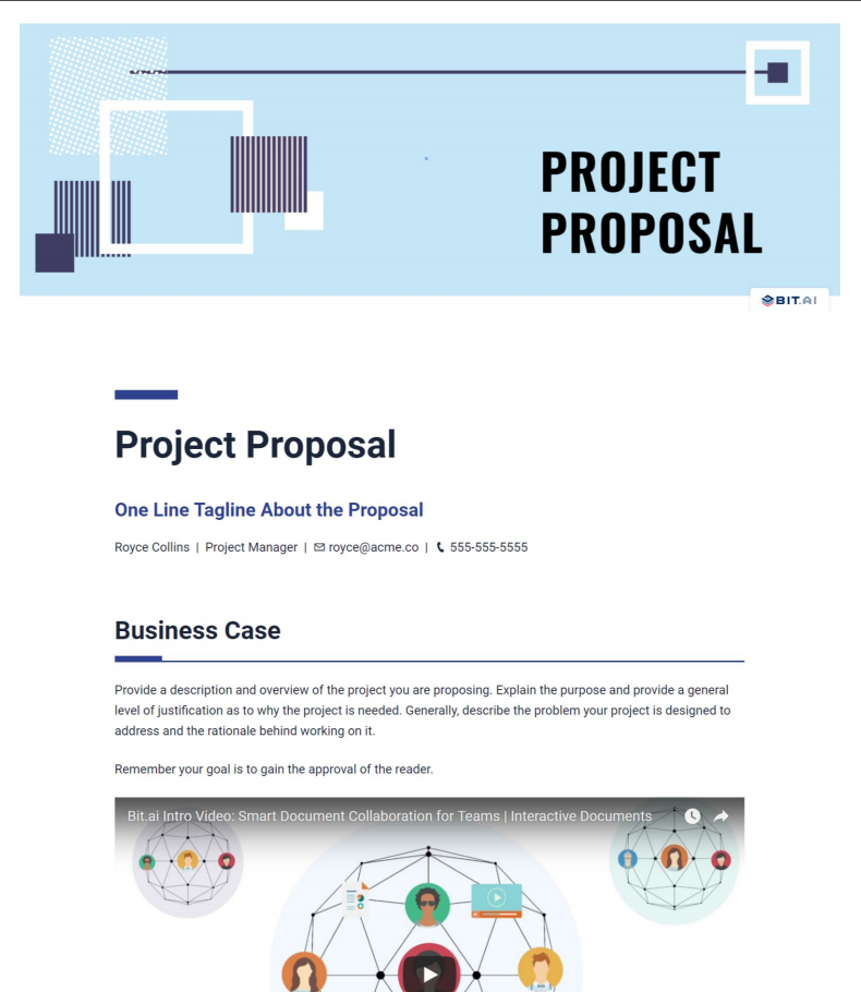 Project proposal template pdf