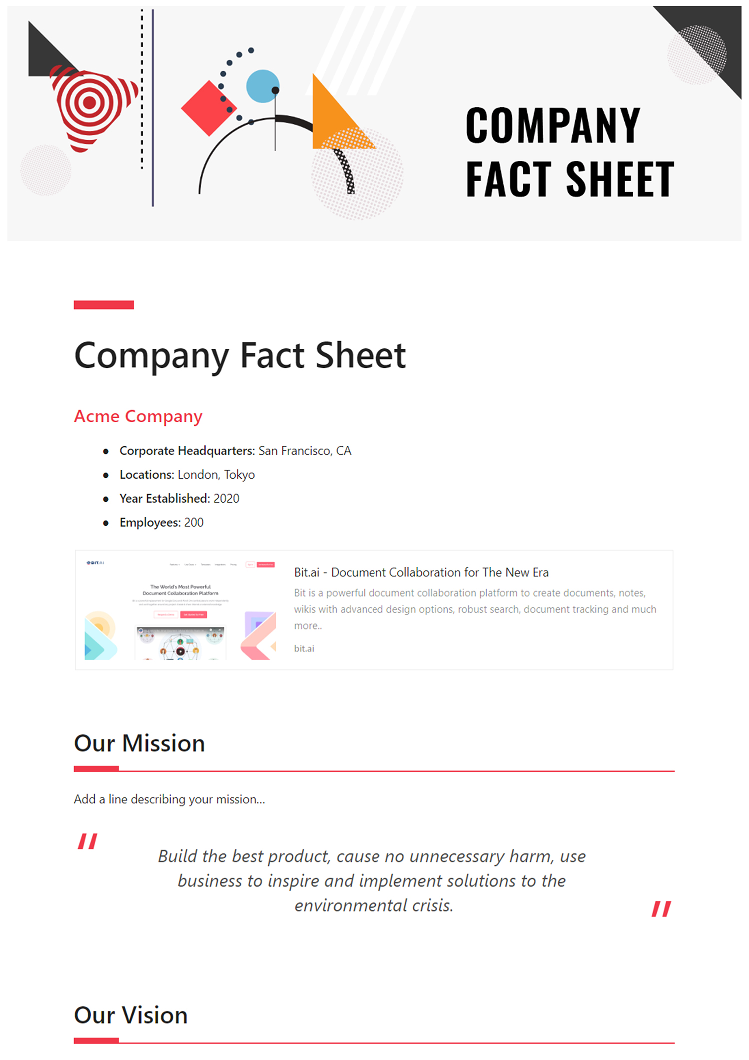 How to Create a Killer Fact Sheet? (Steps and Template Included) In Fact Sheet Template Microsoft Word