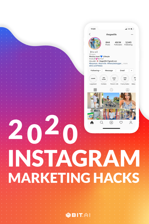 Instagram marketing hacks 2020 - Pinterest image