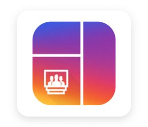 Grid post maker tool for adding grids to instagram post