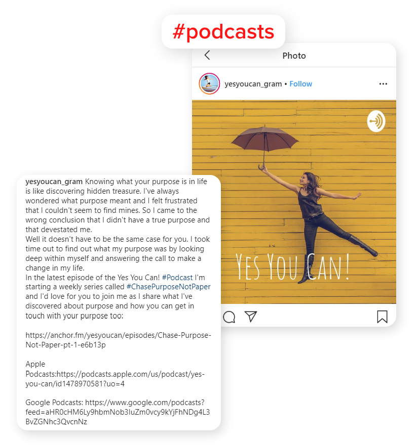 Example of instagram post used to promote podcast