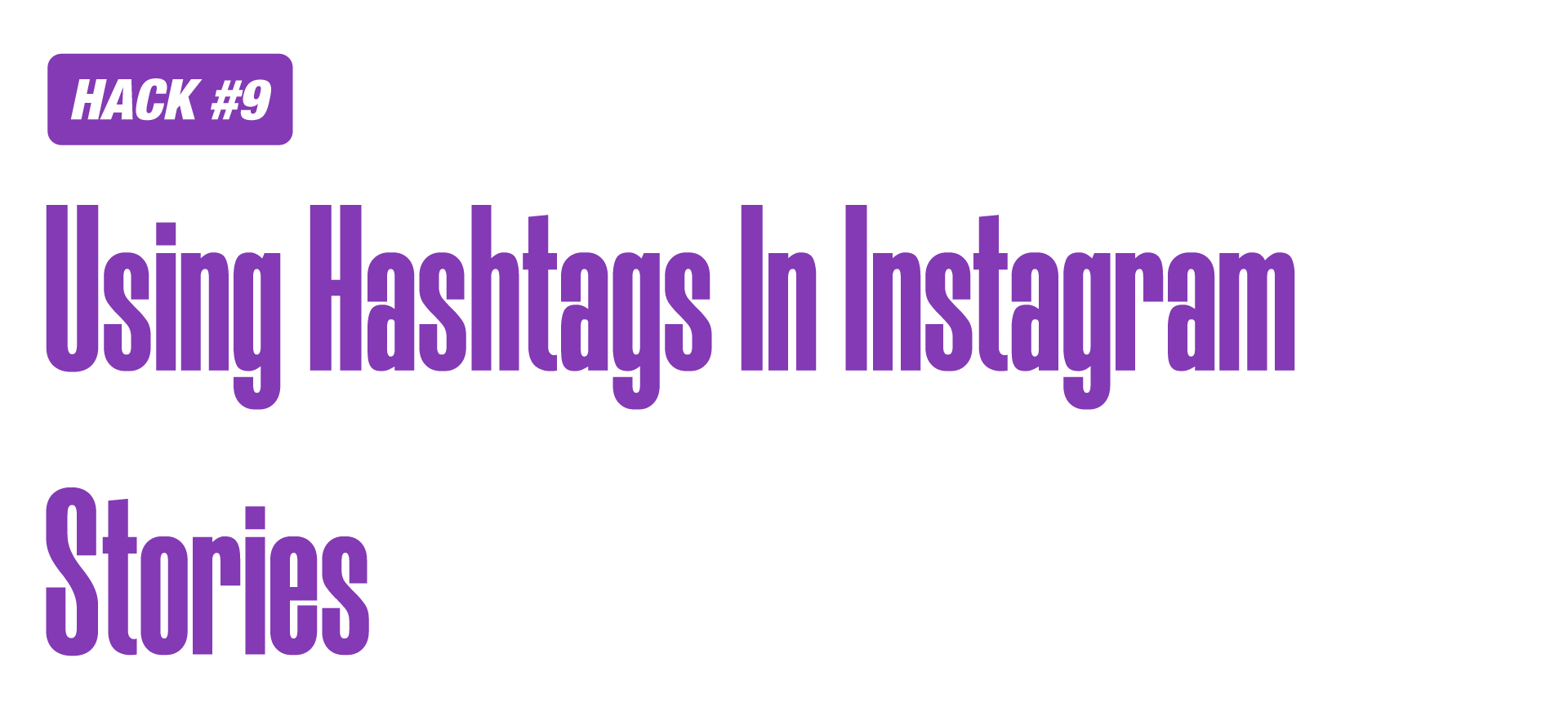 Hashtags in Instagram stories