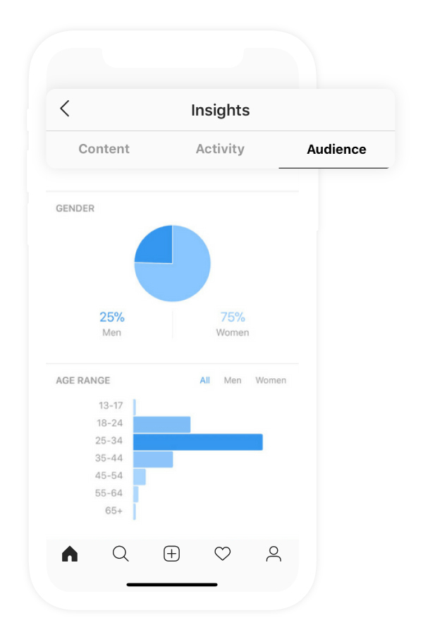 Preview of analytics report on Instagram