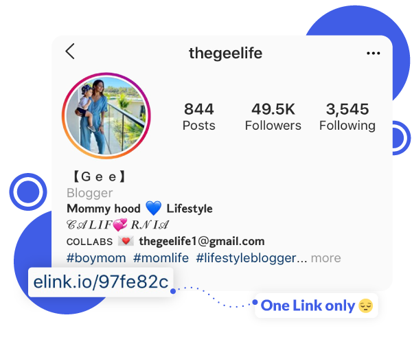 Instagram marketing through a single bio link