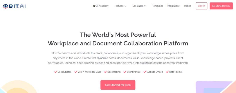 Bit.ai: File sharing site