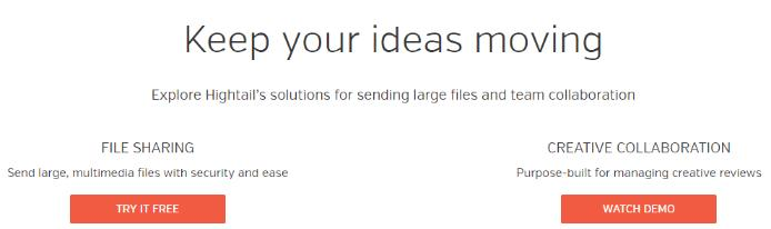Hightail: File sharing site