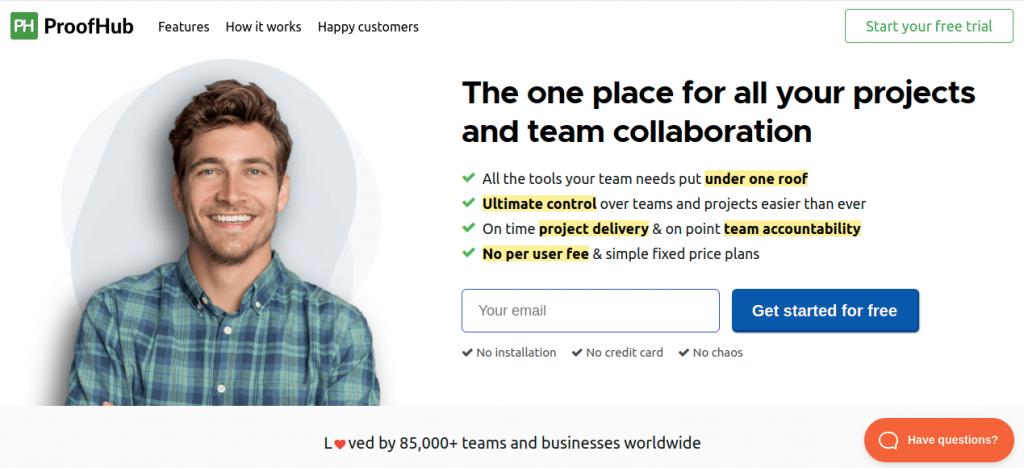 Proofhub: Design collaboration tool