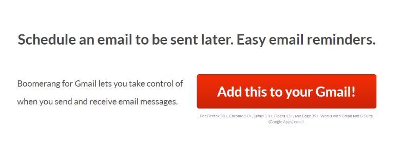 Boomerang: Email tracking software