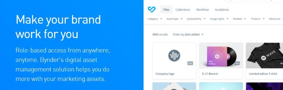 Bynder: Digital asset management software