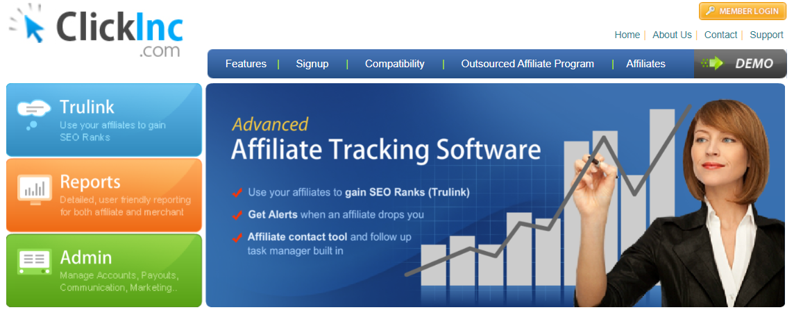 ClickInc : Affiliate marketing tracking software