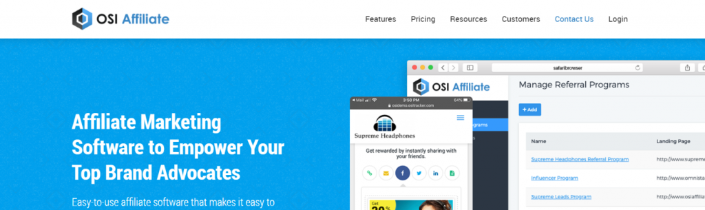 Osi affiliate: Affiliate tracking software