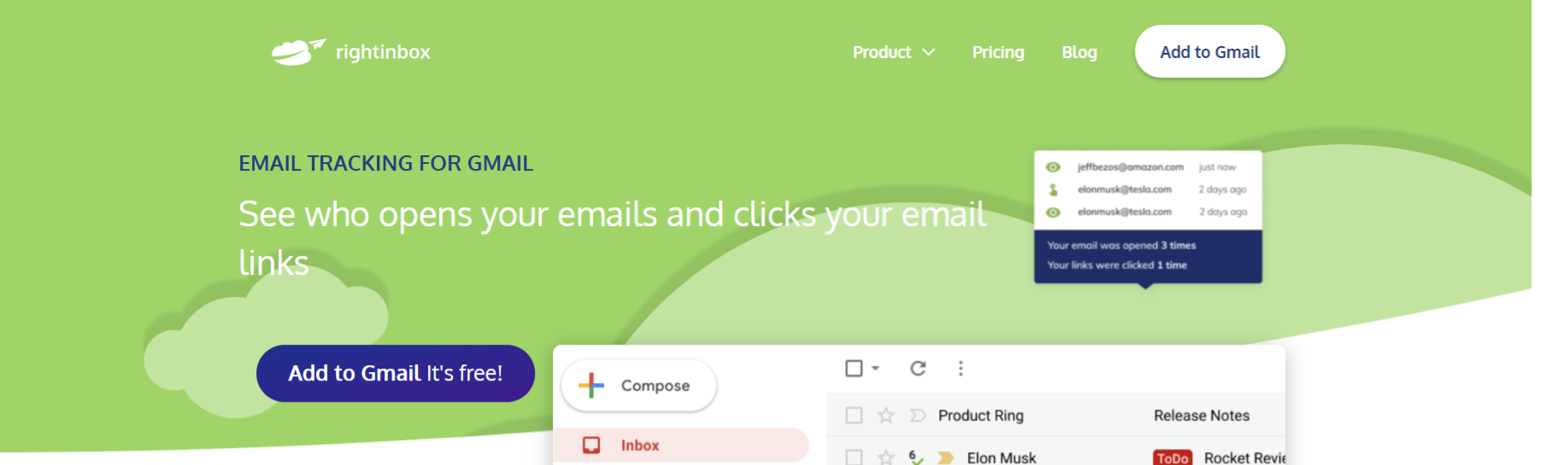 Rightinbox: Email tracking software