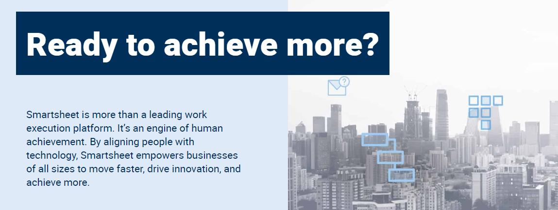 Smartsheet : Workflow Management Software