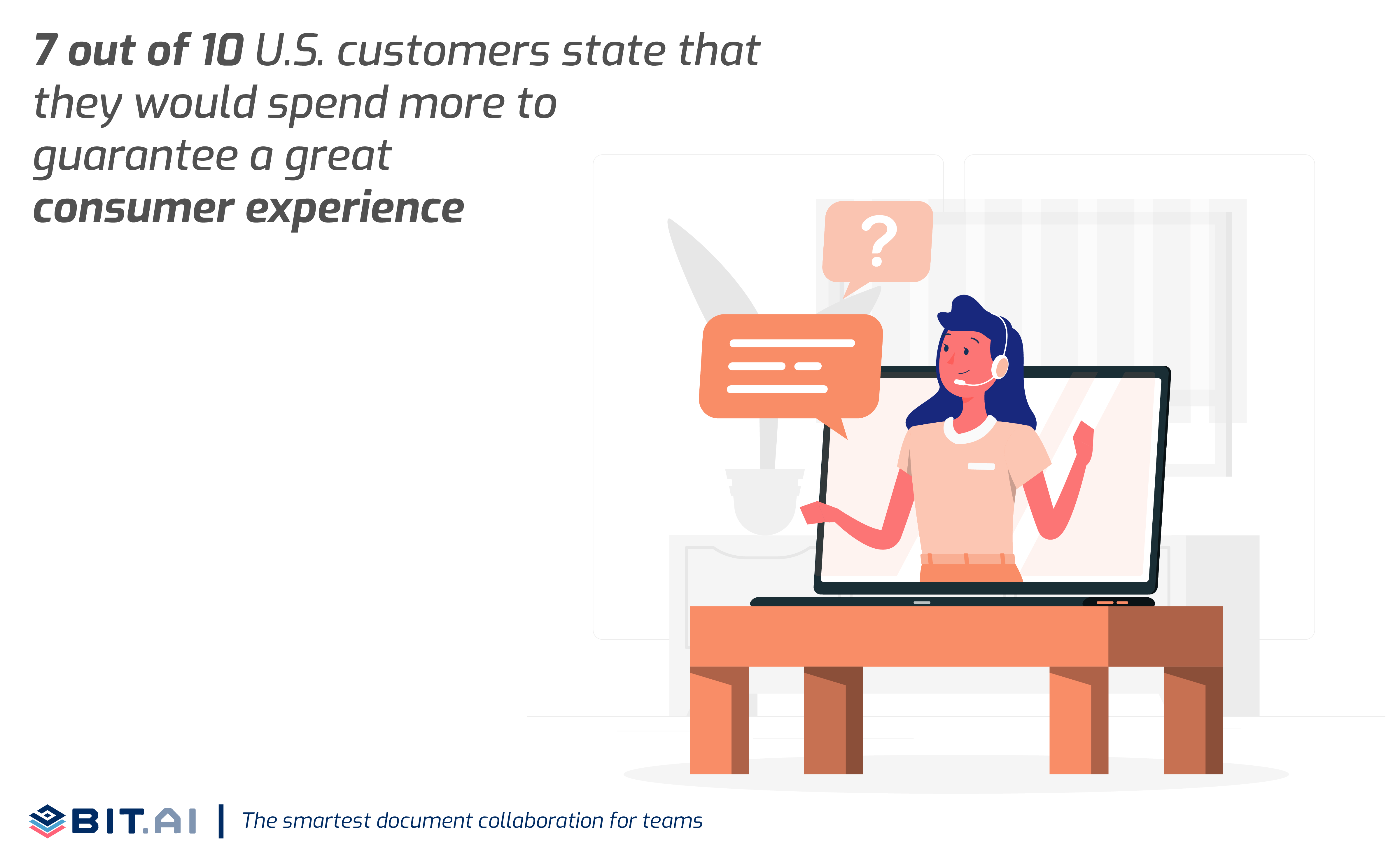 Statistic illustration related to customer service