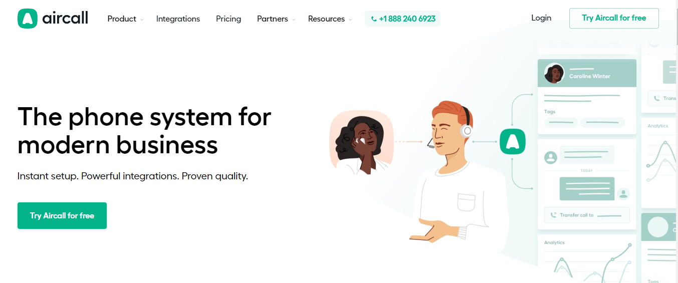 AirCall: Customer service software