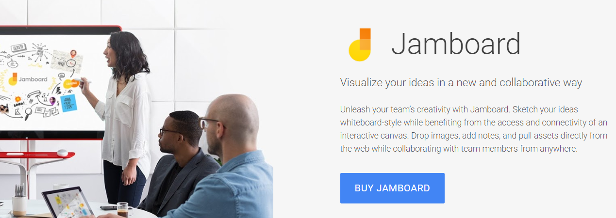 Googl jamboard for internal collaboration and communication