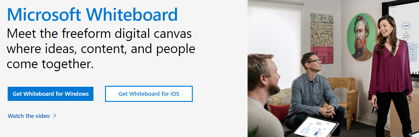 Microsoft Whiteboard for digital communication and document creation