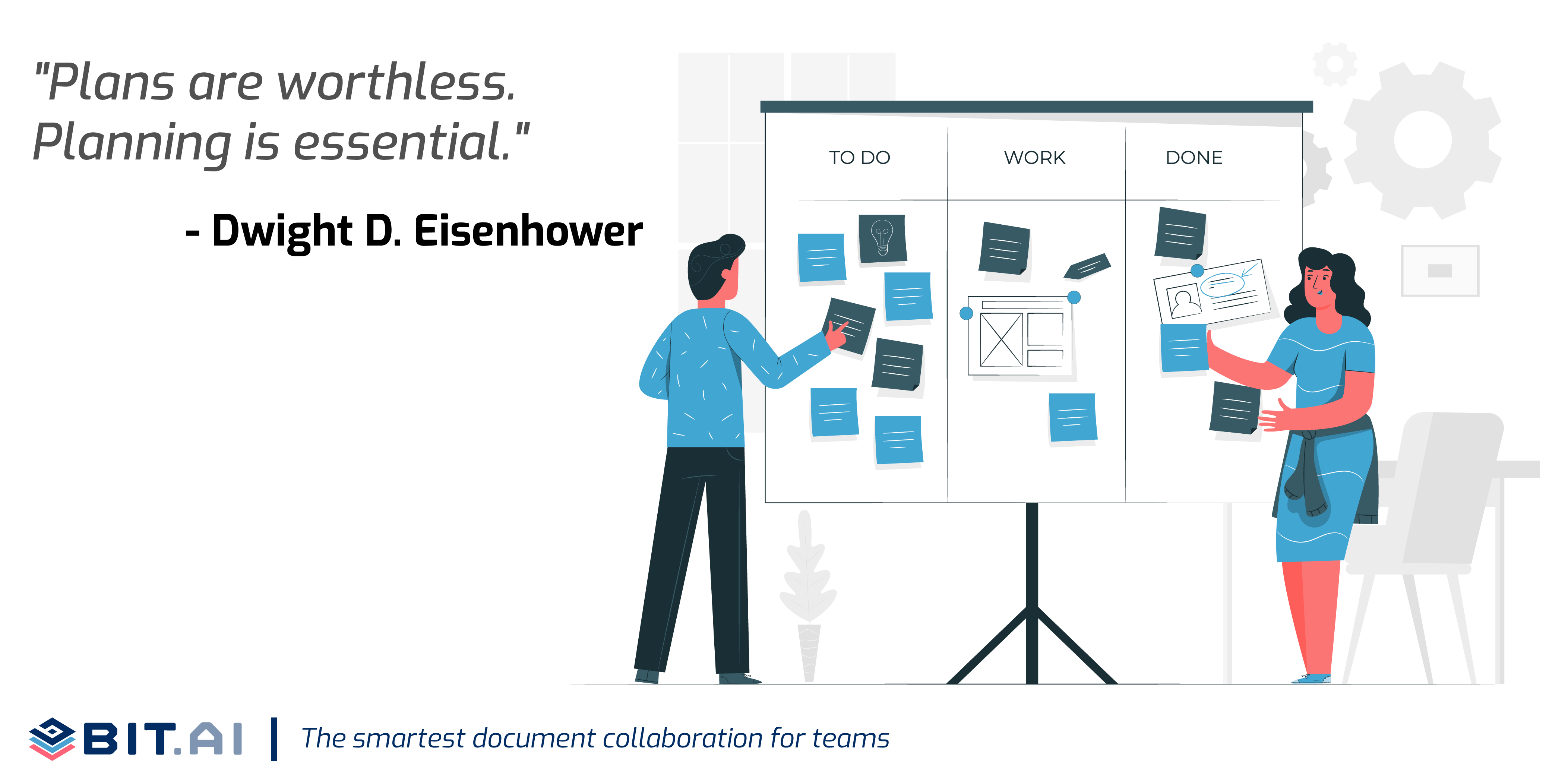 Illustration of a quote on project planning