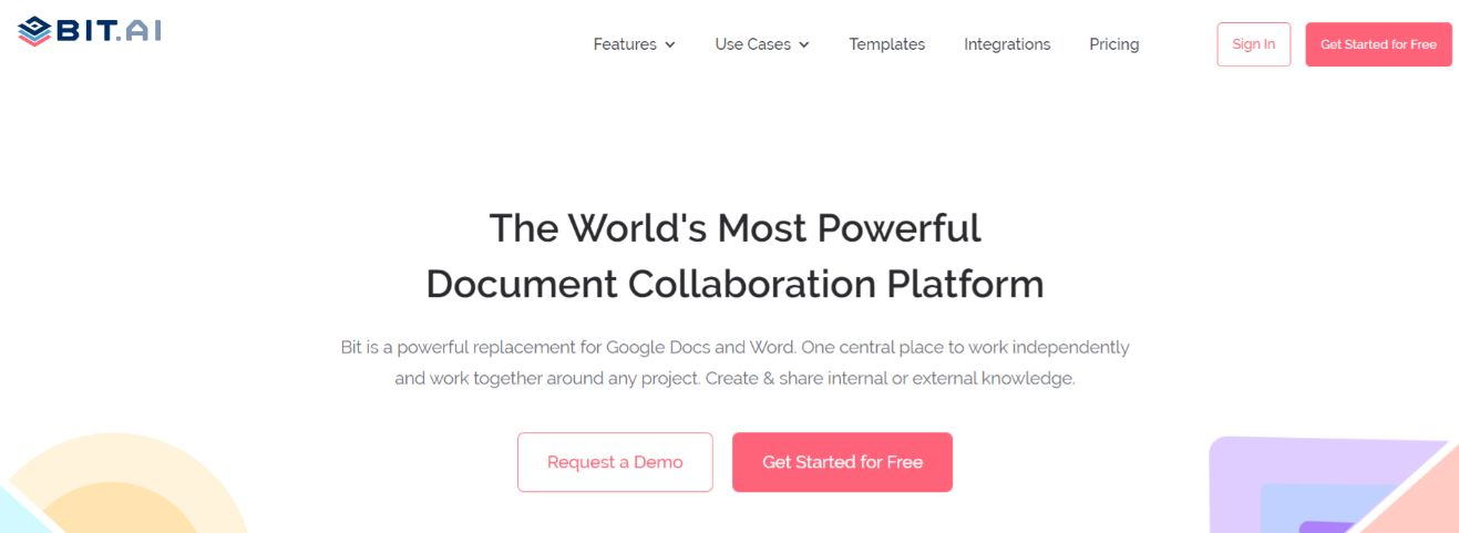 Bit.ai: Communication through document management tool