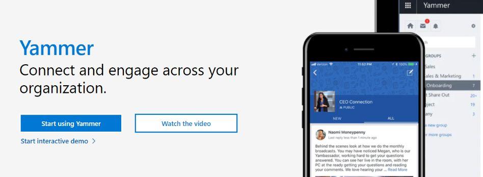 Yammer: Messaging app