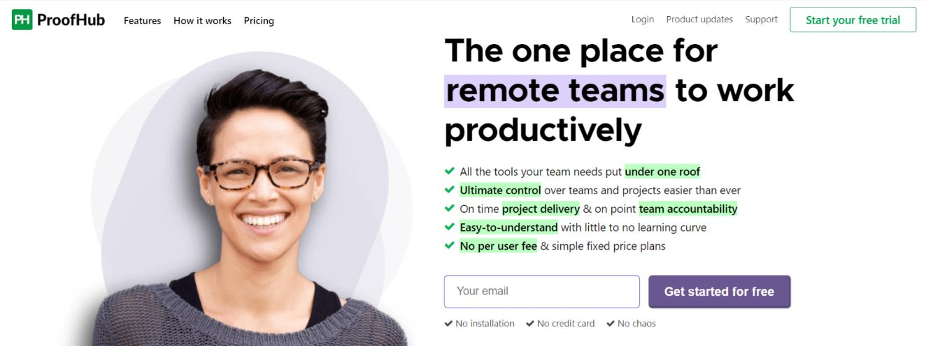 Proofhub: Communicate over documents