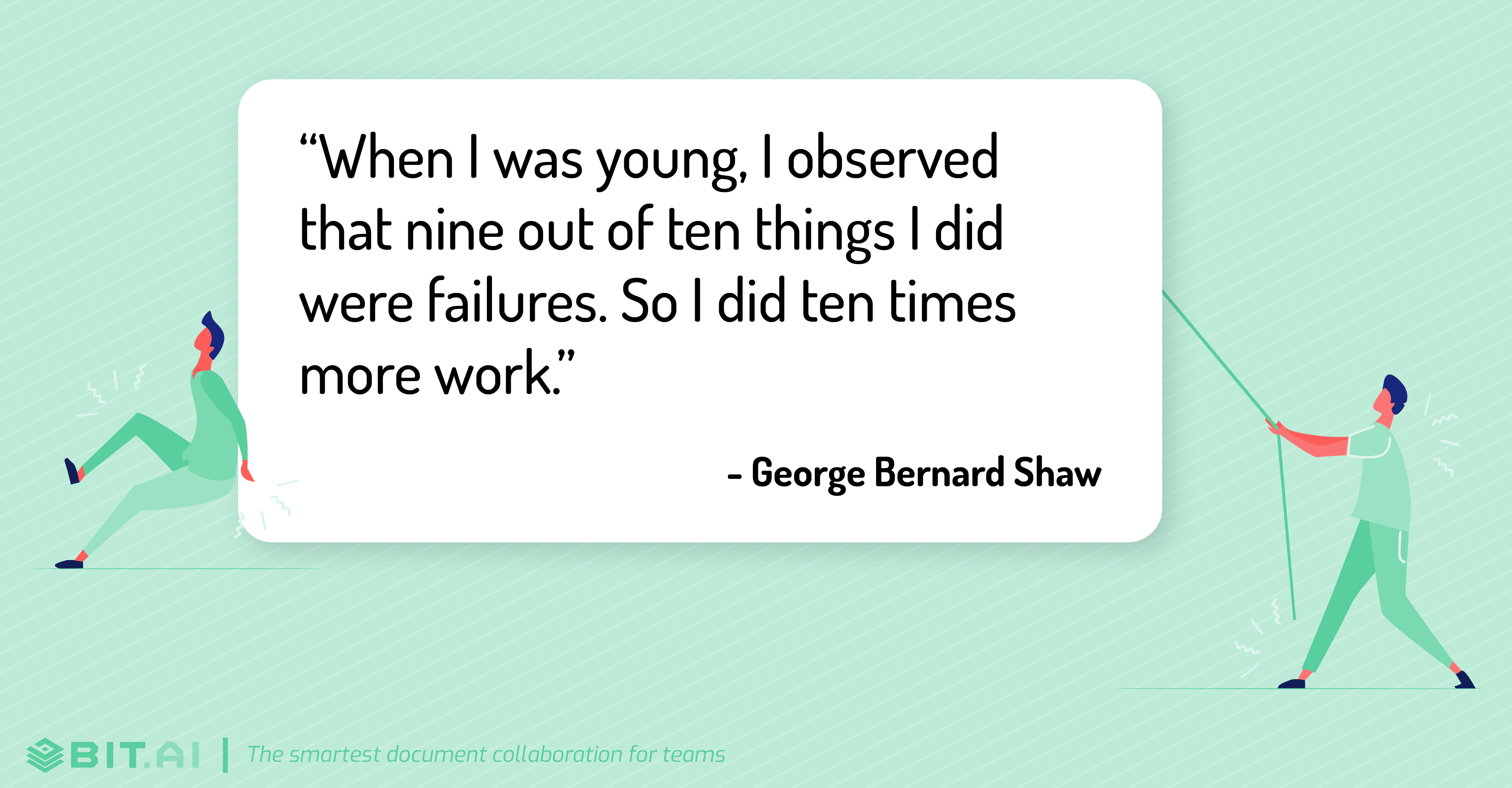 Hard work quote by George Bernard Shaw