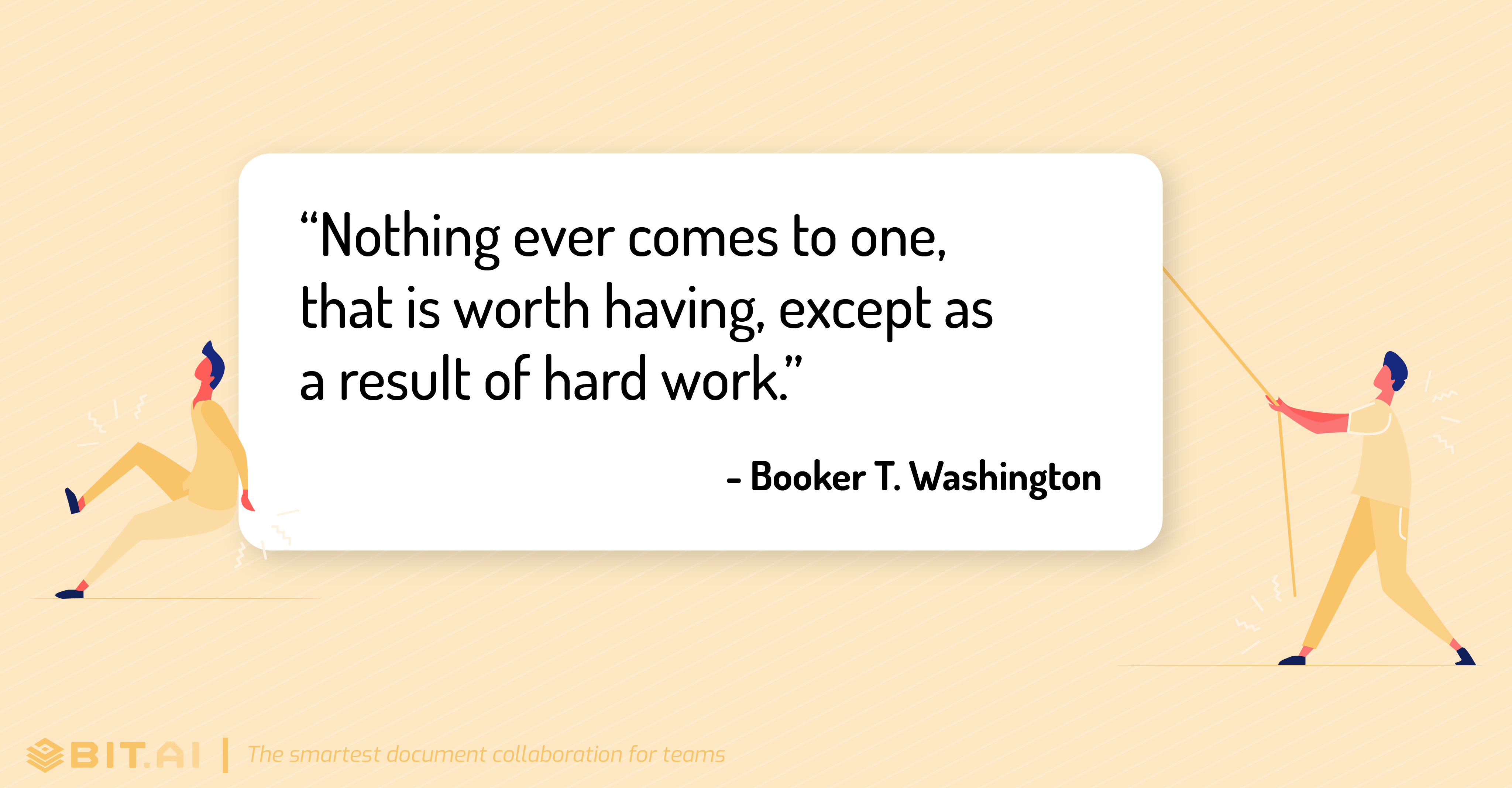 Hard work quote by Booker T. Washington