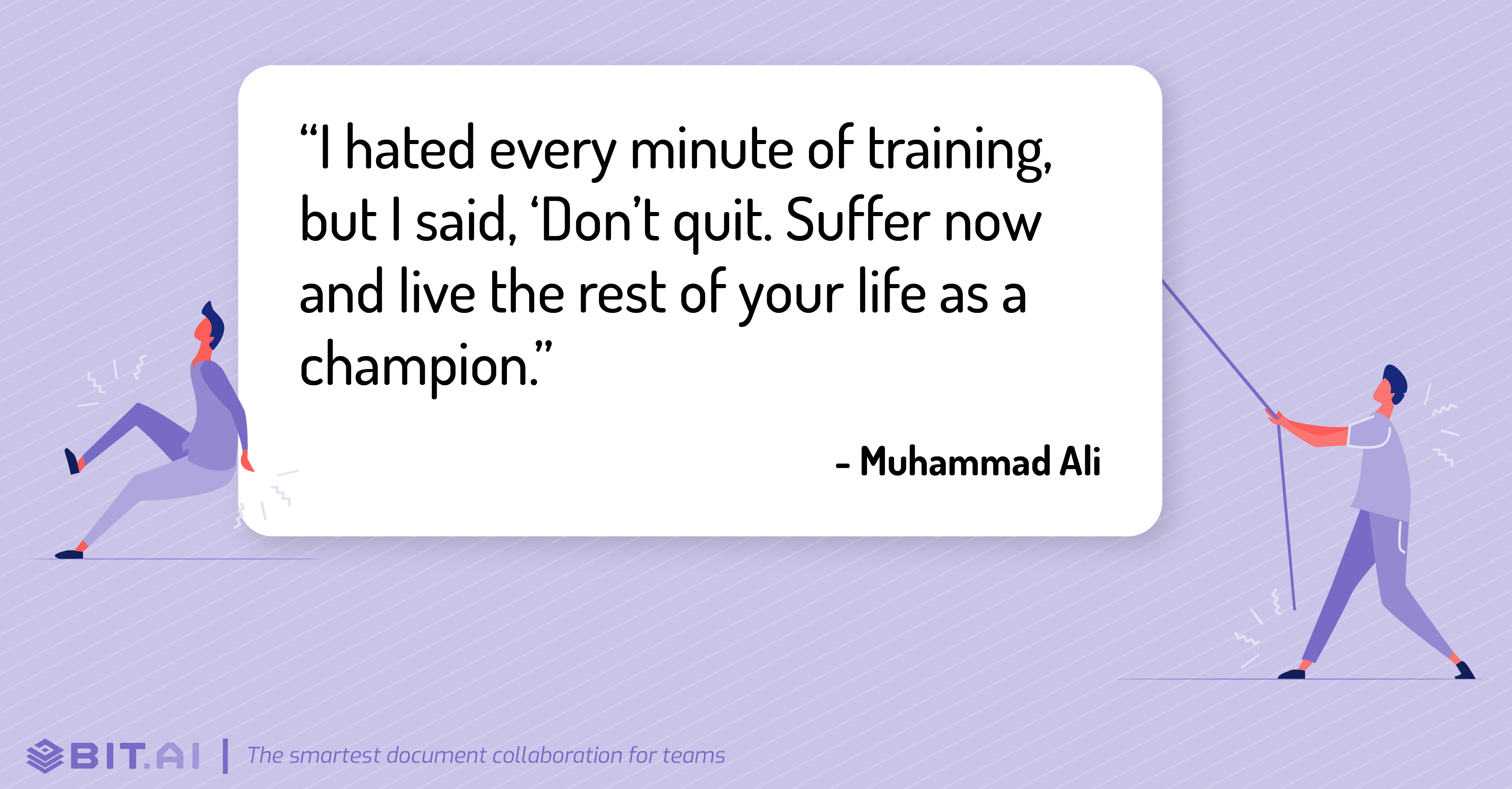 Hard work quote by Muhammad Ali