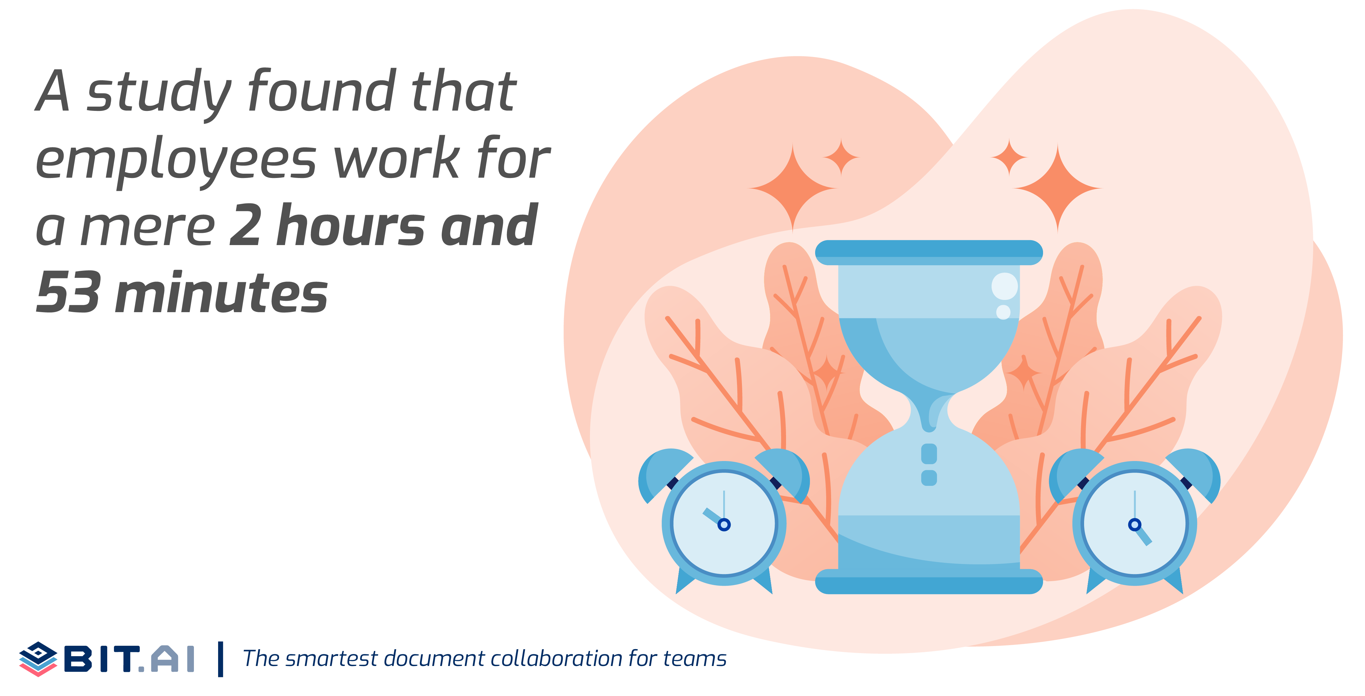 Statistic illustration related to total productive working hours of an employee in a day