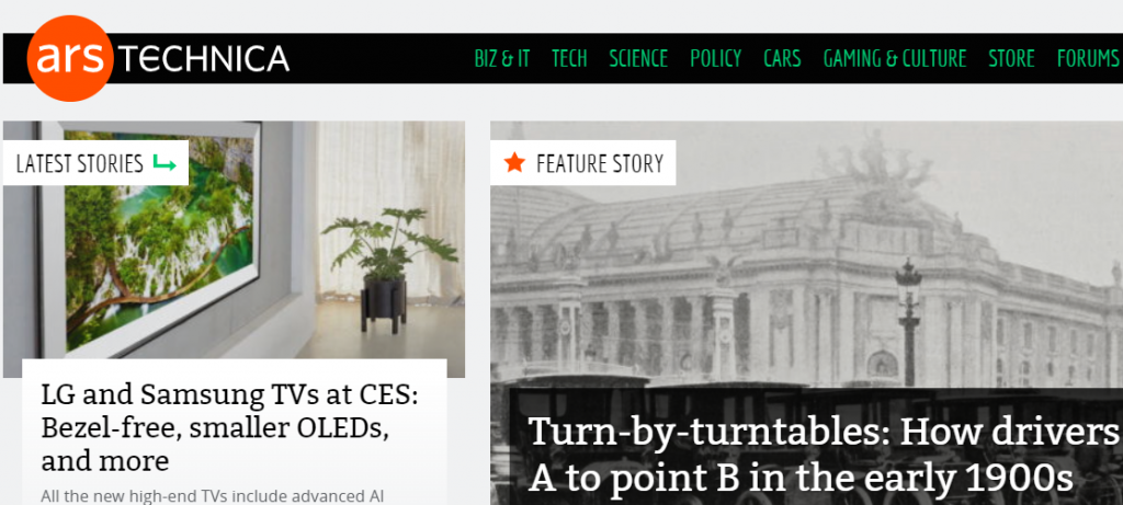 Ars Technica : A tech website