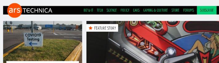 Ars Technica: A tech website