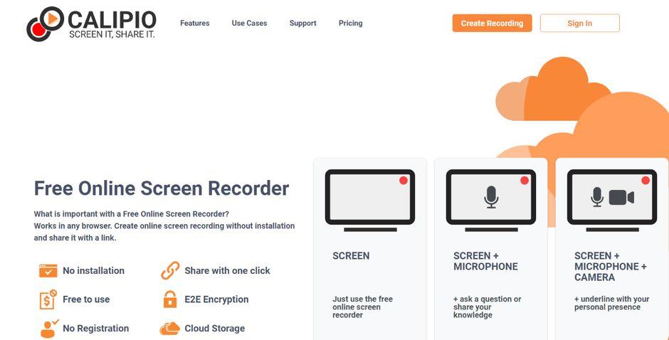 Calipio: Screen recorder
