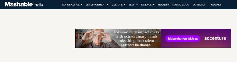 Mashable: A tech website