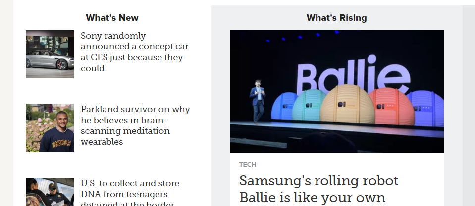 Mashable : A tech website