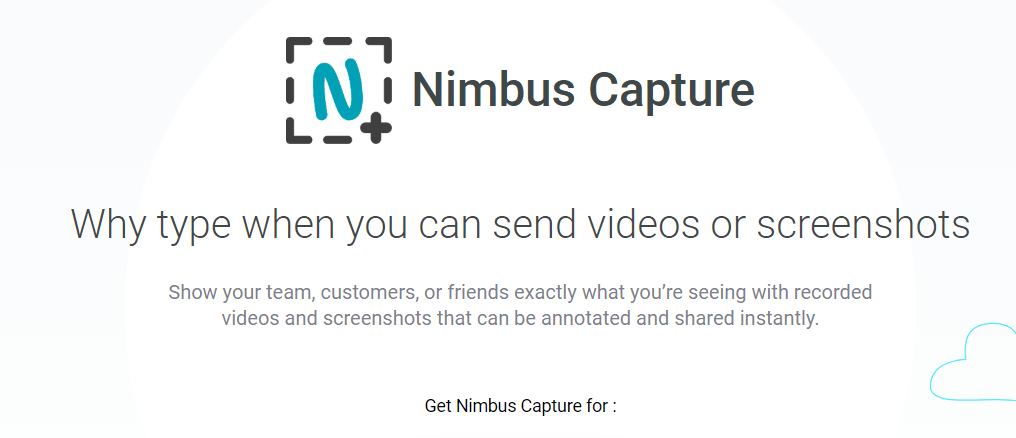 Nimbus capture: Screen recording software and tool
