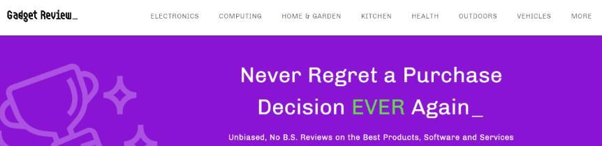 Gadget review: A tech website