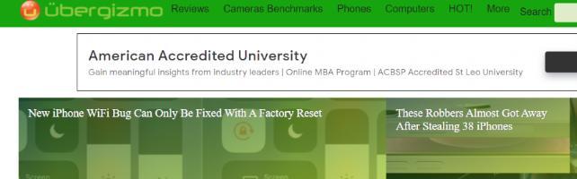 Ubergizmo: A tech website