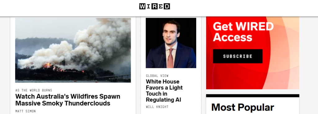 Wired : A tech website
