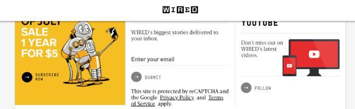 Wired: A tech website