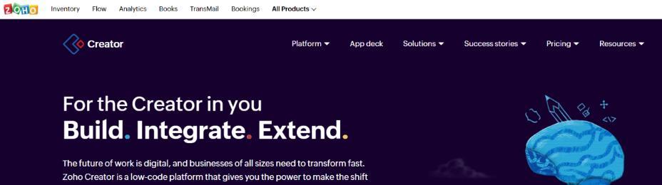 Zoho creator: Business Process Management (BPM) Tool