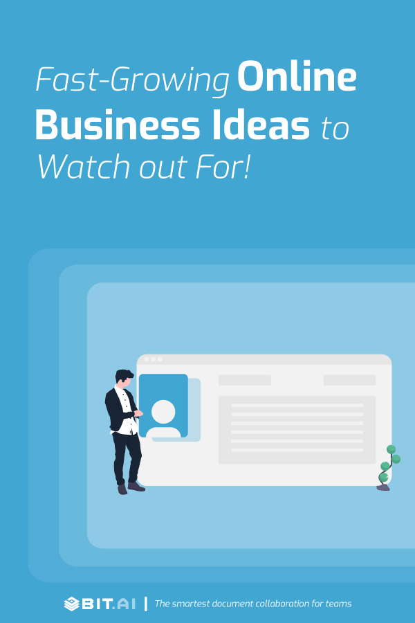 Fast growing online business ideas to watch out for - Pinterest banner