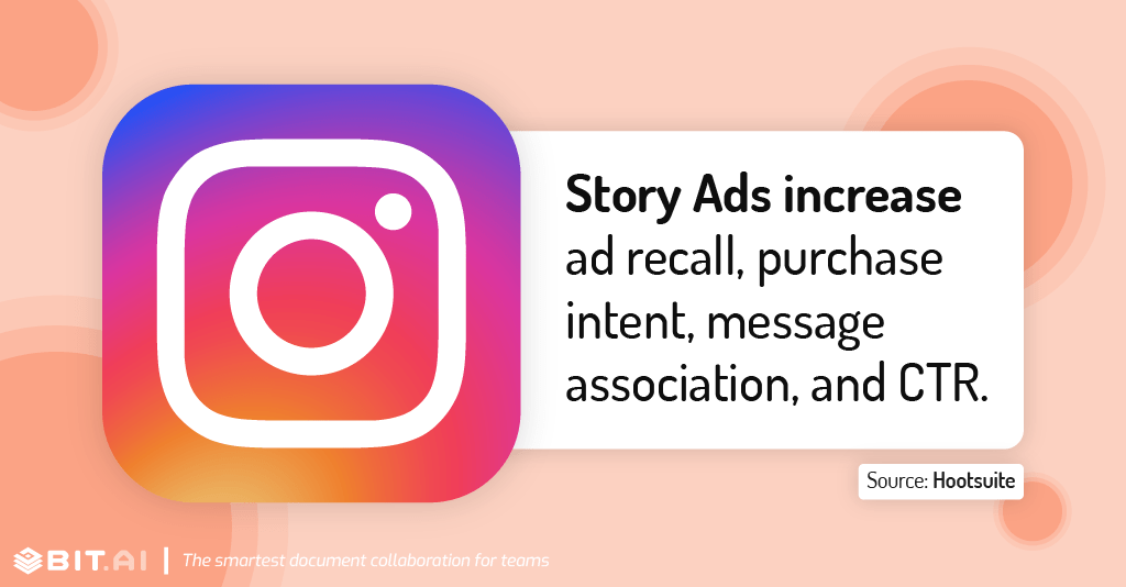 Instagram statistic illustration related to story ads