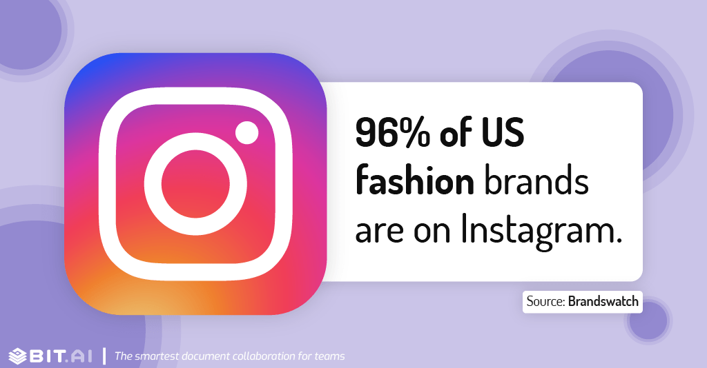 Instagram statistic illustration related to fashion brands presence on instagram